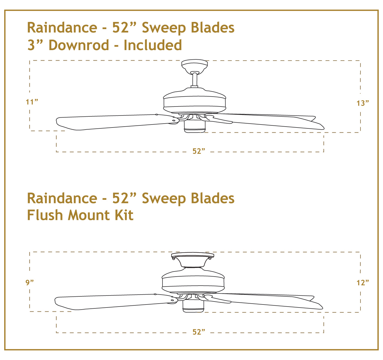 60 Inch Raindance Large Outdoor Ceiling Fan