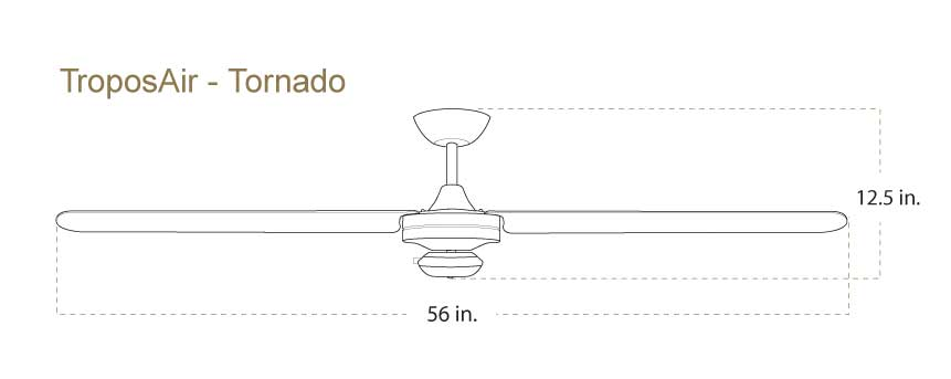"TroposAir Tornado 56"" Ceiling Fan"