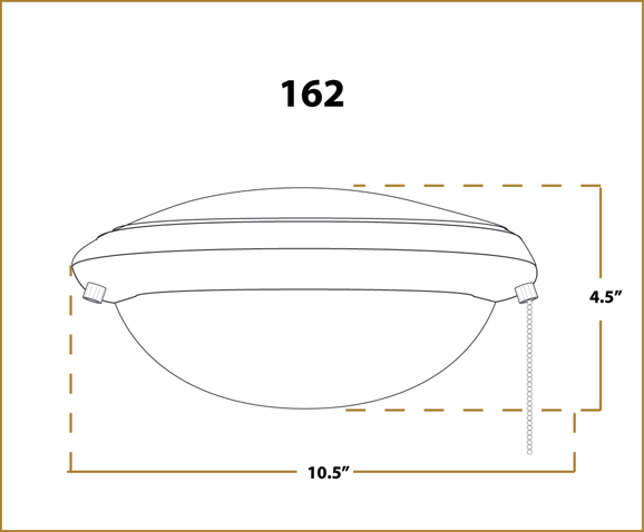 Ceiling Fan Light -  162 - Dimensions