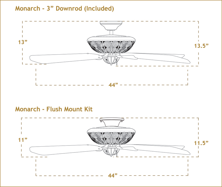 Monarch with 44 inch sweep Blades