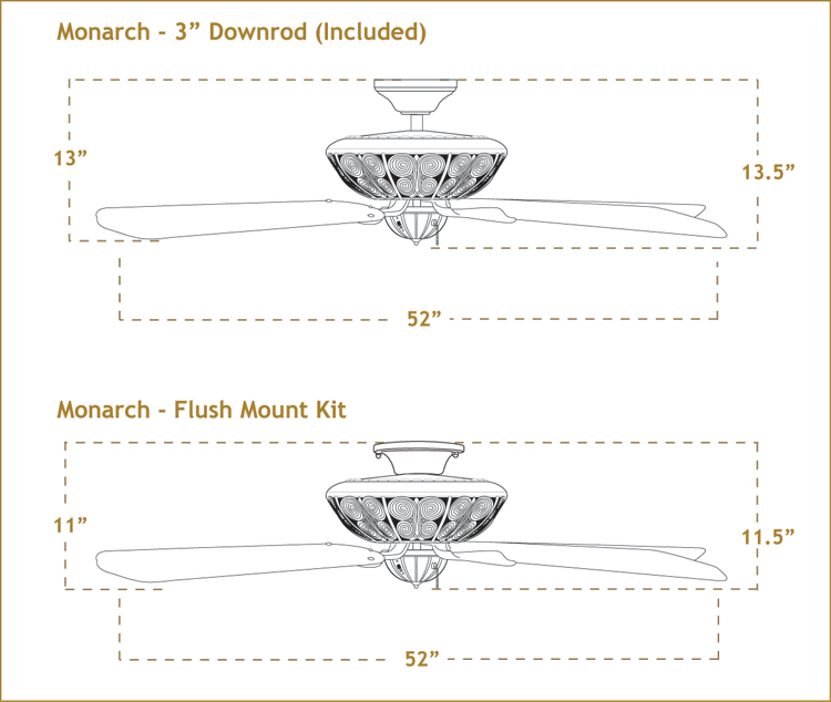 Monarch with 52 inch sweep Blades