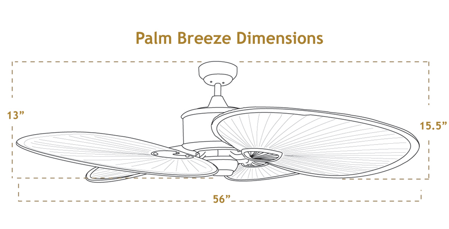 Palm Breeze Ceiling Fan Dimensions