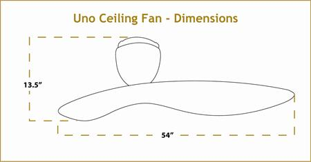 Uno Ceiling Fan Dimensions