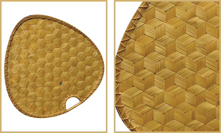 Natural Woven Bamboo blades for double ceiling fan