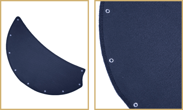 Blue sail cloth fabric blades for double ceiling fan