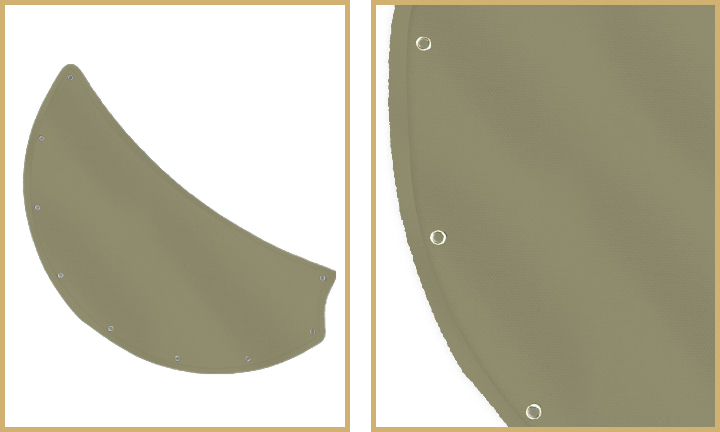 Khaki sail cloth fabric blades for double ceiling fan