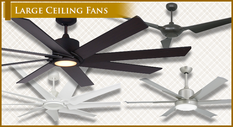 Large Ceiling Fans, HVLS Models, DC Motors With The Lastest Technology In  Fans. Ceiling Fans From 66, 72, 84 And 96 Inches!