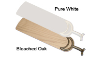 56 inch sweep blades in bleacked oak or pure white