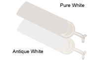 44 inch Sweep White or Pure White Matte Blades