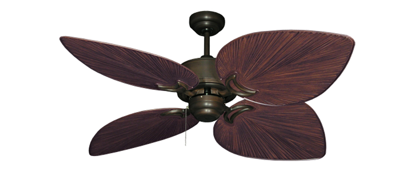 50 Inch Bombay Tropical Outdoor Ceiling Fan With Oil Rubbed Bronze Blades