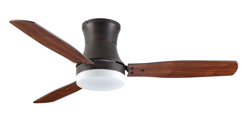 "Troposair 52"" Modernaire Oil Rubbed Bronze with Walnut Blades"