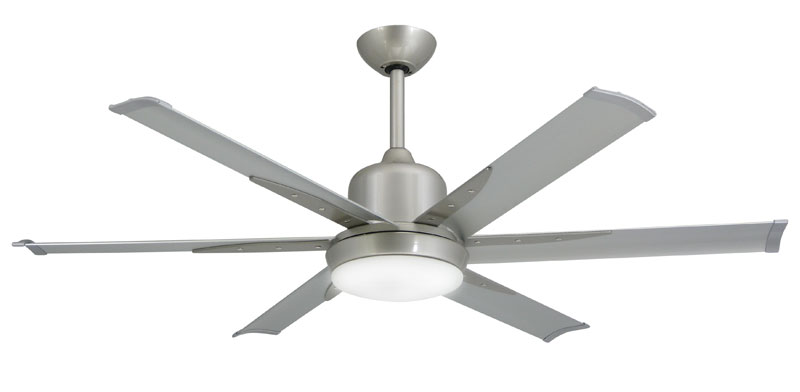 "Titan 52"" Brushed Nickel Ceiling Fan with Light"