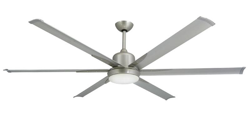 72 inch Titan Brushed Nickel Ceiling Fan by TroposAir