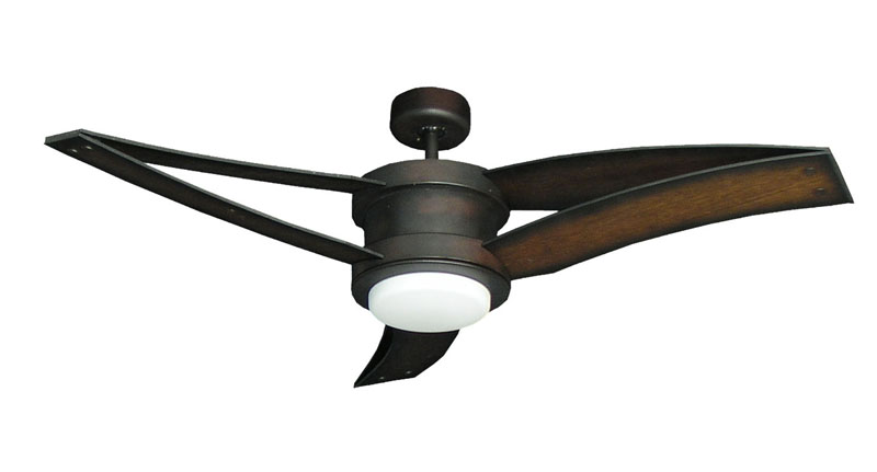 52 Triton Ii Oil Rubbed Bronze Ceiling Fan With Arched Blades