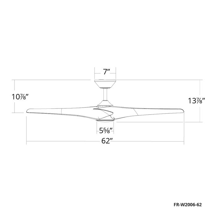 62 inch Zephyr ceiling fan by Modern Forms Smart Fans