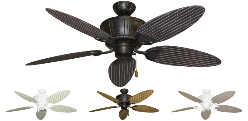 52 Inch Centurion Outdoor Tropical Ceiling Fan Bamboo