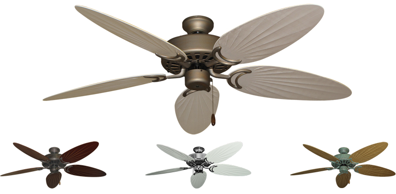 52 Inch Dixie Belle Tropical Ceiling Fan Bamboo Palm Blades