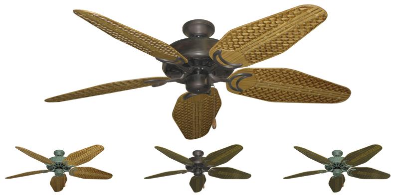 52 Inch Dixie Belle Outdoor Tropical Ceiling Fan