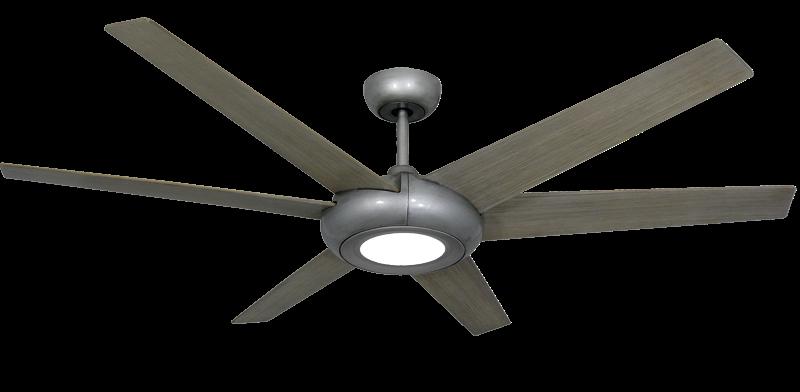 60 Inch Elegant Ceiling Fan Brushed Nickel By Troposair