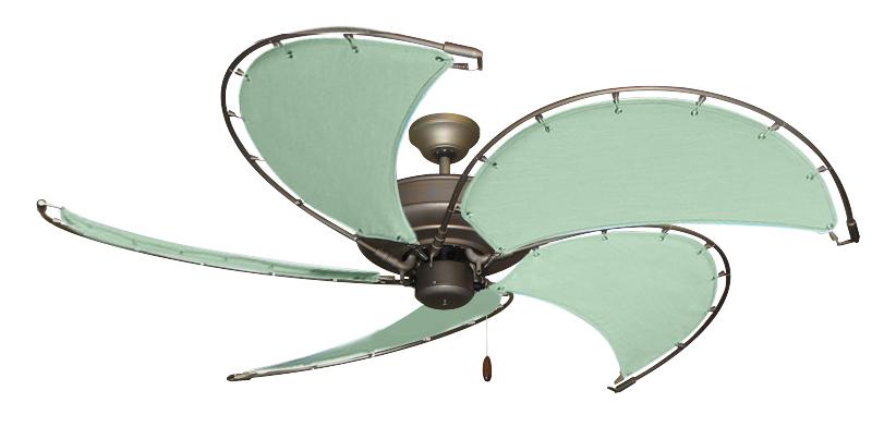 52 inch raindance nautical ceiling fan sunbrella sea canvas blades 52 inch raindance antique bronze nautical fan with sea custom canvas blades aloadofball Choice Image