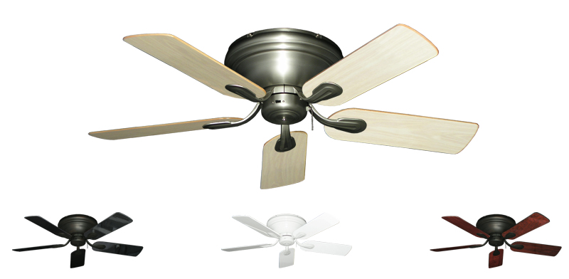 44 Inch Stratus Hugger Ceiling Fan For Low Ceilings