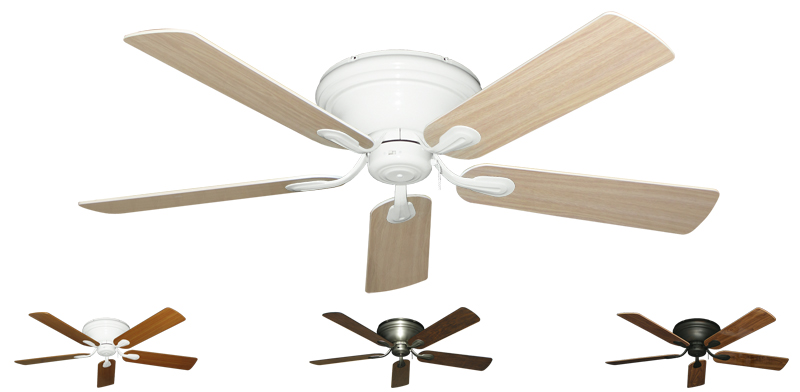 52 Inch Stratus Hugger Ceiling Fan For Low Ceilings