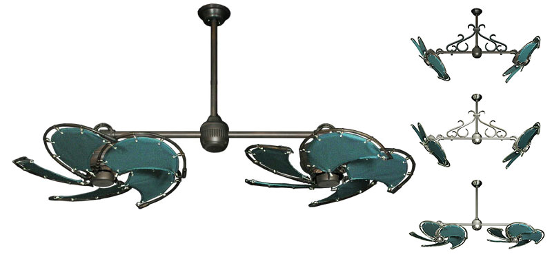 30 Inch Double Twin Star Iii Tropical Ceiling Fan With
