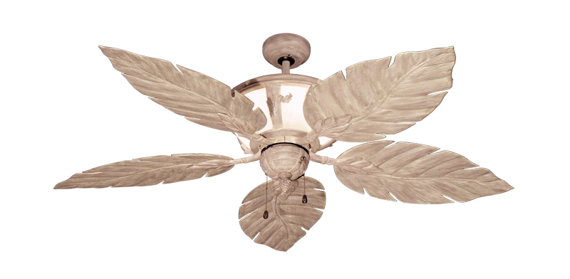 52 Inch Venetian Outdoor Tropical Ceiling Fan With Light Driftwood
