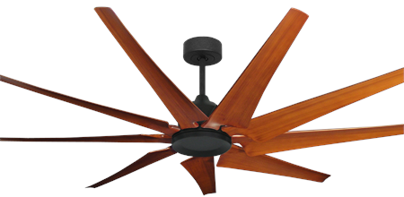96 inch Liberator Ceiling Fan - Oil Rubbed Bronze Ceiling Fan With Natural Cherry Blades
