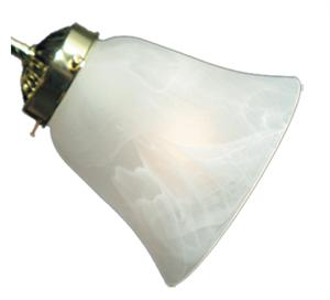 White Flared Scavo 040 Ceiling Fan Light - The Tropical Ceiling Fan Company