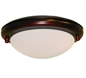 162 Low Profile Wine Finish Ceiling Fan Light