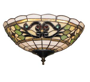 White Jeweled bowl 186 Ceiling Fan Light - The Tropical Fan Company