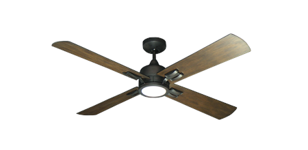 Captiva 52 inch Ceiling Fan in Oil Rubbed Bronze