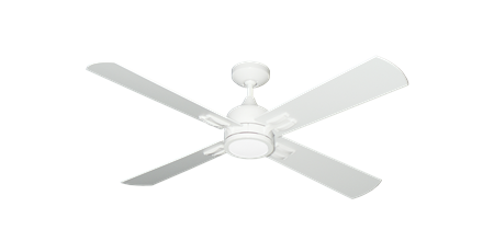 Captiva 52 inch Ceiling Fan in Pure White