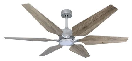 60 inch Optum Ceiling Fan with LED light - Brushed Nicke
