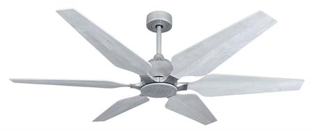 60 inch Optum Ceiling Fan - Brushed Nickel with Seashore Whitey Blades