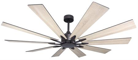 66 inch Fusion Ceiling Fan - Oil Rubbed Bronze and Beachwood Blades