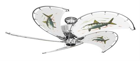 52 inch Dixie Belle Nautical Ceiling Fan with Game Fish Bonefish