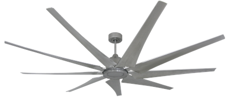 82 inch Liberator Ceiling Fan - Brushed Nickel