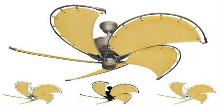 52 inch Raindance Nautical Ceiling Fan - Sunbrella Buttercup Canvas Blades