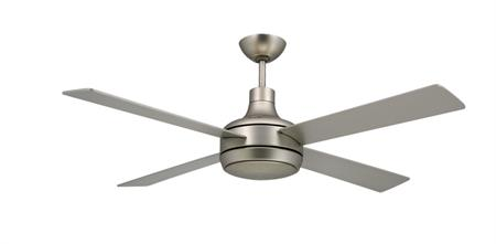 Quantum Satin Steel Modern Ceiling Fan w/52