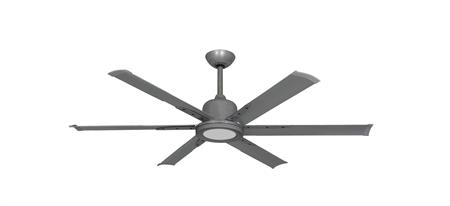 52 inch Titan II Brushed Nickel Ceiling Fan with Extruded Aluminum Blades and LED Light