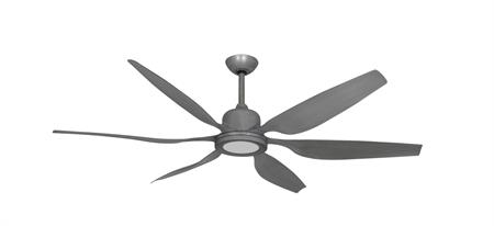 52 inch Titan II Brushed Nickel Ceiling Fan with LED Light and Contoured Blades by TroposAir