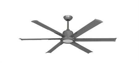 60 inch Titan II Brushed Nickel Ceiling Fan with Extruded Aluminum Blades and LED Light