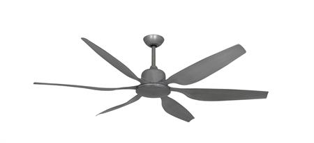 66 inch Titan II Brushed Nickel Ceiling Fan with Contoured Blades by TroposAir