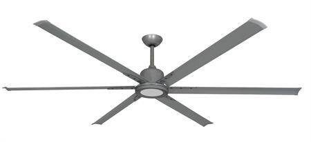 84 inch Titan II Ceiling Fan - Brushed Nickel Finish with Light
