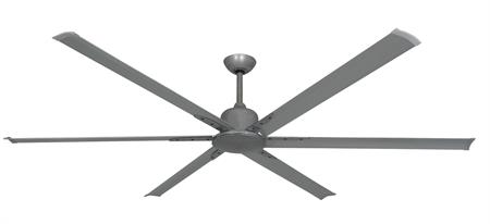 84 inch Titan II Ceiling Fan - Brushed Nickel Finish with Extruded Aluminum Blades by TroposAir