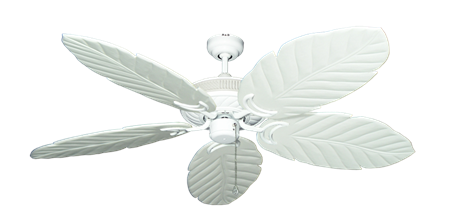 Atlantis Pure White Tropical Ceiling Fan with Arbor 100 Pure White Blades