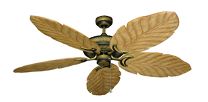 Atlantis Tiger's Eye Tropical Ceiling Fan with Arbor 100 Maple Blades