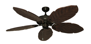 Atlantis Weathered Brick (Oil Rubbed Bronze) Tropical Ceiling Fan with Arbor 100 Dark Walnut Blades